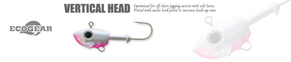 Ecogear VERTICAL HEAD 超重量級Jighead