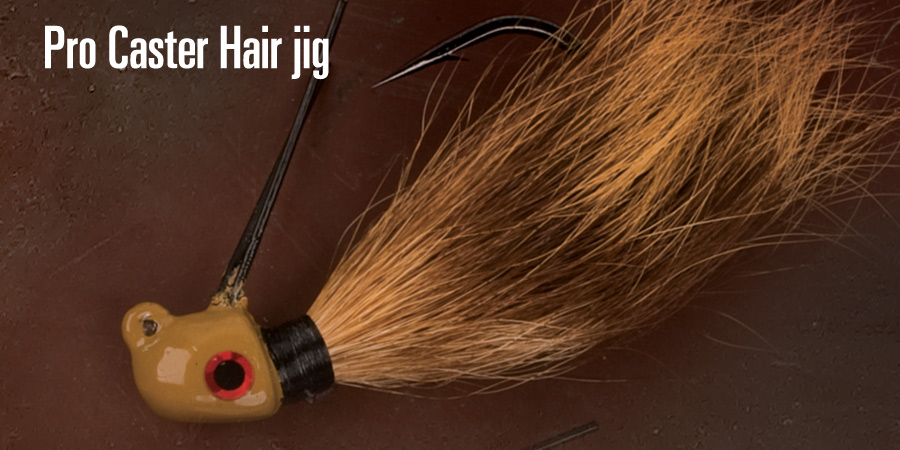 Cumberland Pro Lures Pro Caster Hair Jigs 天然的尚好