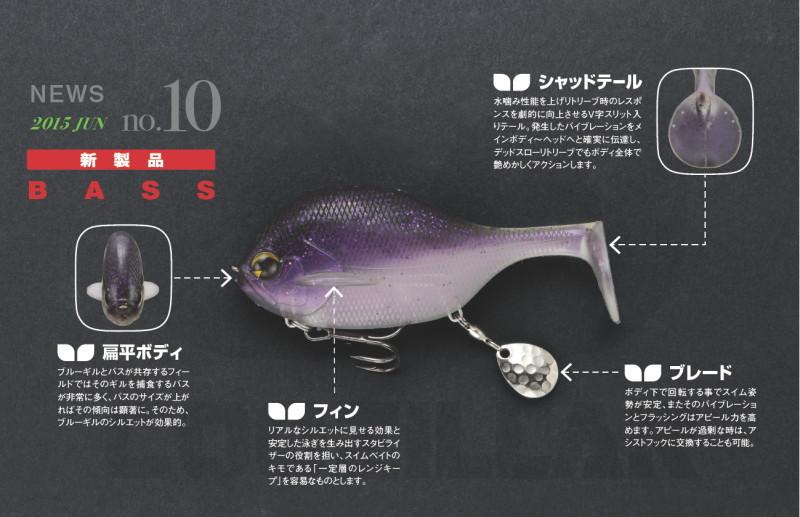 藍鰓誘惑 ima COOZILLAR Bass用軟魚