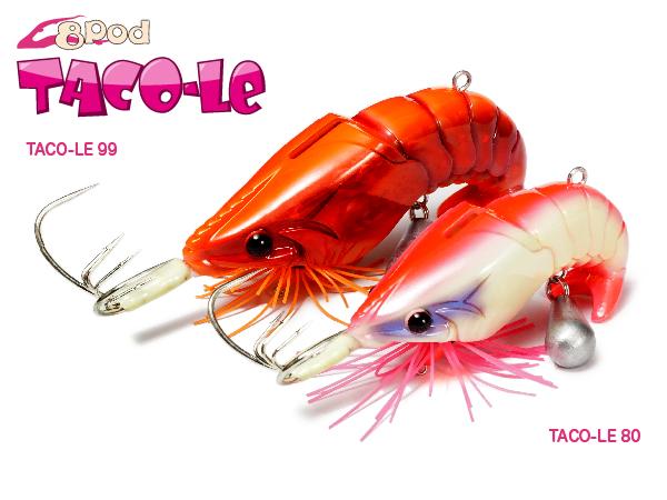 MEGABASS 8POD TACO-LE 章魚專用餌木