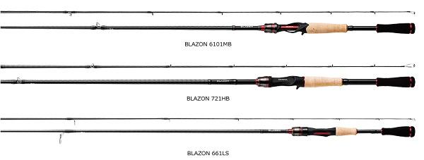 基礎性能提升 DAIWA BLAZON Bass竿 2018樣式
