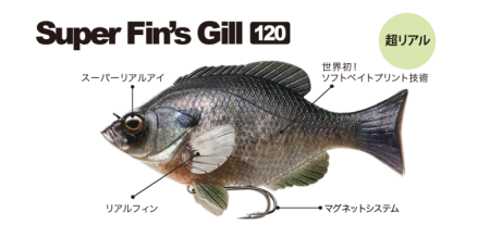 超擬真,Fish Arrow Super Fin's Gill 120